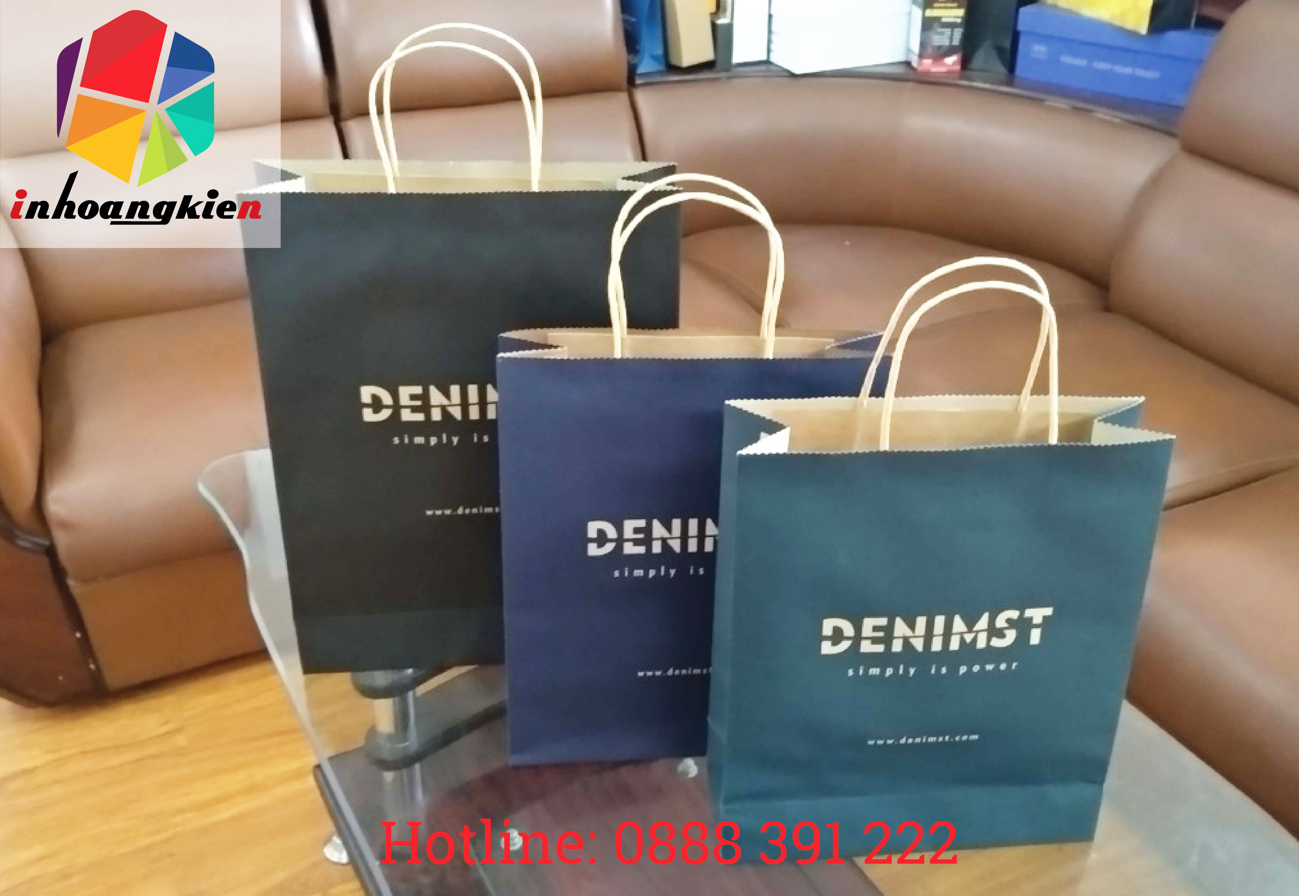 Túi giấy kraft cho shop thời trang