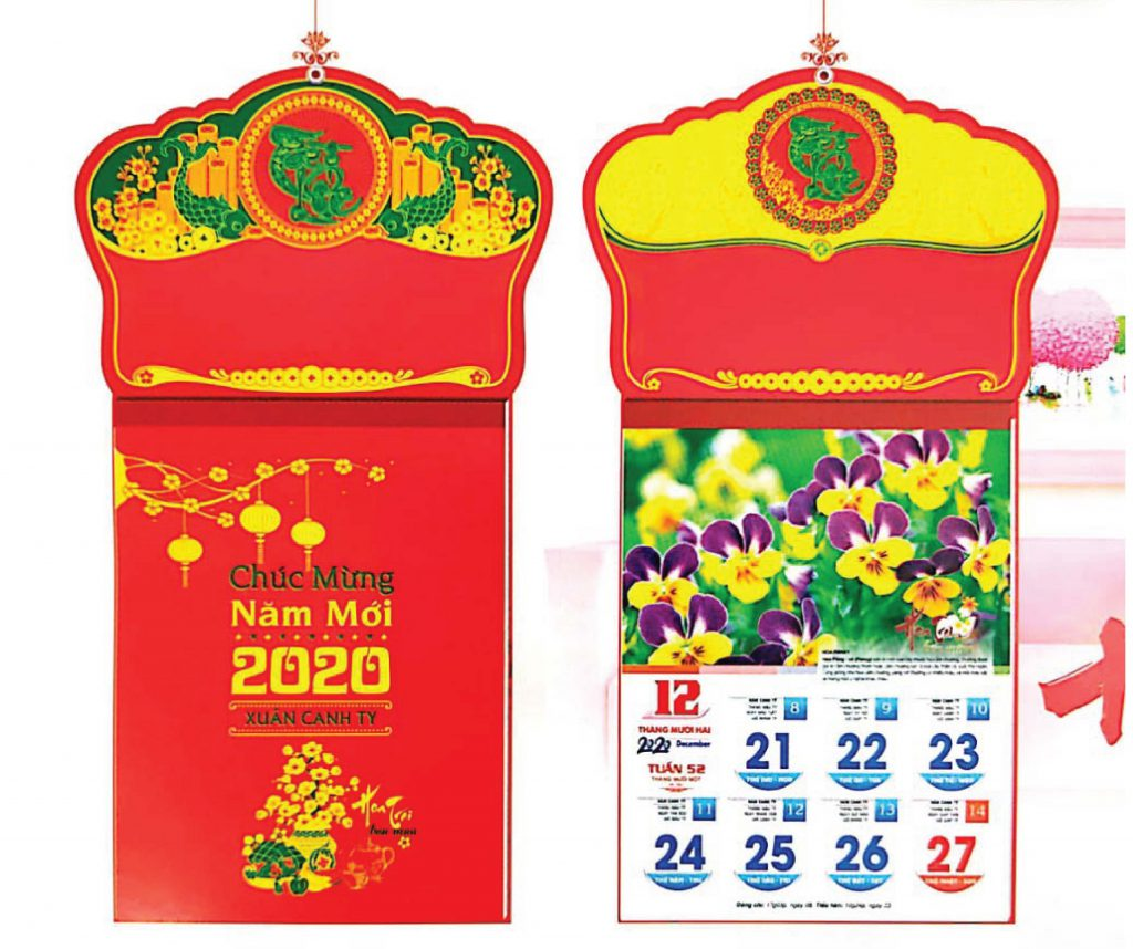 In lịch tết 52 tuần