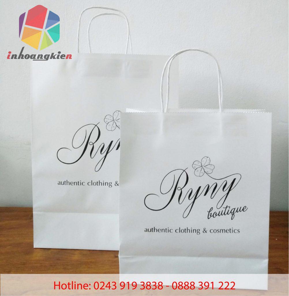 In túi giấy kraft giá rẻ cho shop thời trang