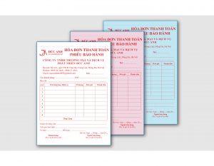 Báo giá in hóa đơn 2 liên – 3 liên– Oder – Phiếu thu chi