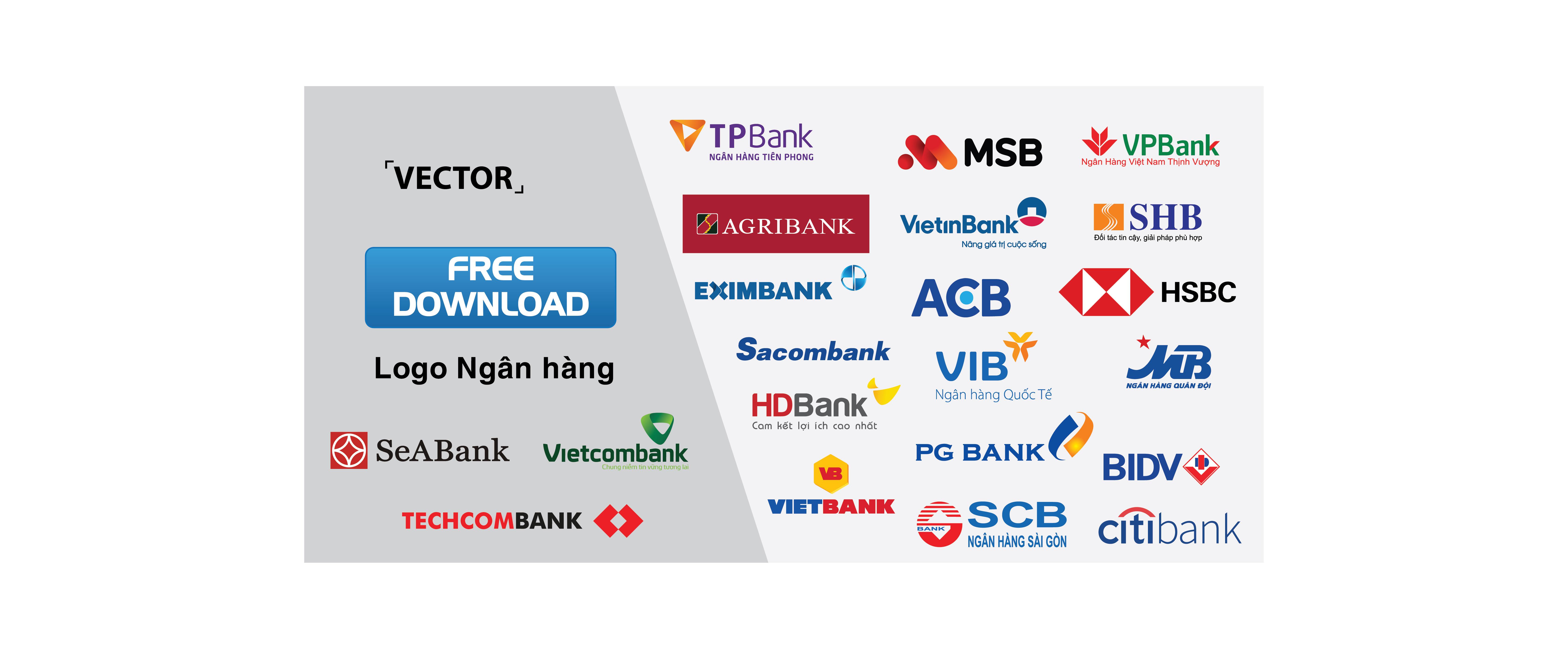 Tổng hợp logo ngân hàng Vector – File Ai, png, pdf – Tải miễn phí